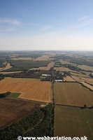 Roman Roads in Kent  England UK aerial photograph