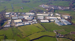 Altham Industrial Estate aerial photograph