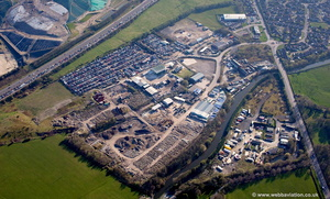 Moorfield Industrial Estate, Altham, Accrington, BB5 5TX aerial photograph