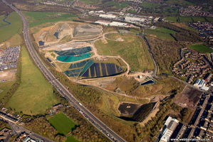 Whinney Hill Quarry Landfill refuse site  Accrington aerial photograph
