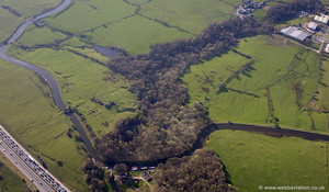 archaeology near Accrington aerial photograph
