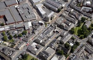 Blackburn Road  Accrington town centre  from the air