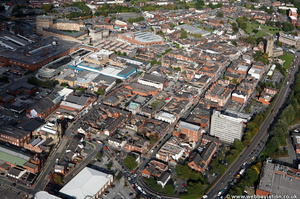 Ashton-under-Lyne town centre from the air