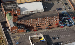 Goodhope Mill, Ashton-under-Lyne from the air