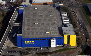 IKEA  Ashton-under-Lyne from the air