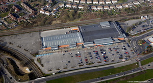 Sainsbury's Ashton-Under-Lyne  from the air