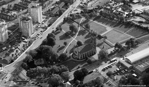 St Peter's Church, Ashton-under-Lyne from the air
