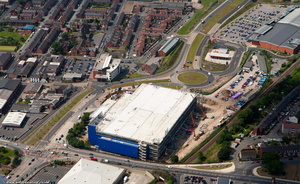 IKEA construction  Ashton-under-Lyne from the air