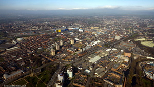 Ashton-under-Lyne from the air