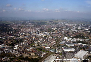 Blackburn Lancashire  UK aerial photograph