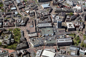 Blackburn town centre from the air
