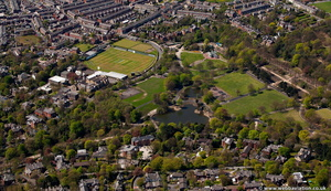 Corporation Park Blackburn  from the air