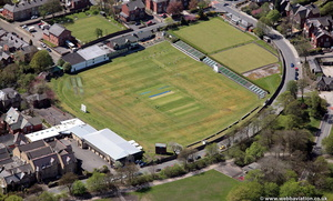 East Lancashire Cricket Club Ground at Alexandra Meadows, Blackburn from the air