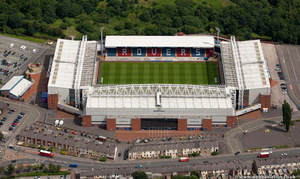 Ewood Park football stadium Blackburn  from the air