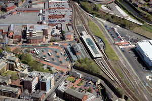 Blackburn railway station from the air