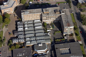 old Blackburn College buildings on  Feilden Street   Blackburn from the air