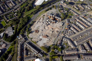 Blackburn Royal Infirmary demolition from the air