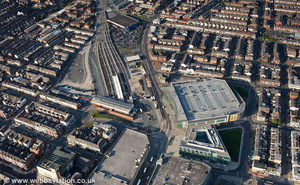 Blackpool North railway station aerial photograph