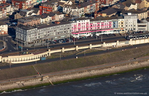 hotels on Blackpool Promenade aerial photograph