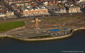 Blackpool North Shore Cabin Lift and  former boating poolaerial photograph