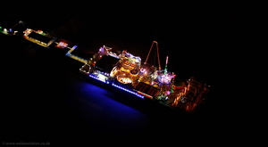 Blackpool South Pier during the Blackpool Illuminations aerial photograph