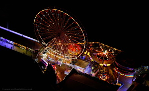 Blackpool Illuminations  UK aerial photograph