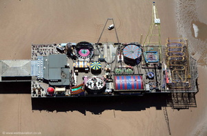 Blackpool South Pier from the air