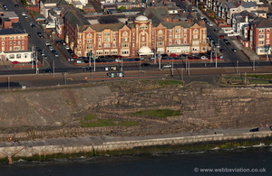 Cliffs Hotel on the sea front at  Blackpool aerial photograph