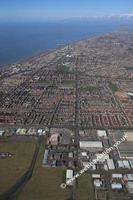 Blackpool Lancashire UK aerial photograph
