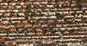 housing in Blackpool aerial photograph