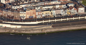 sea front hotels Blackpool  aerial photograph