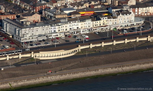 sea front hotels in  Blackpool aerial photograph