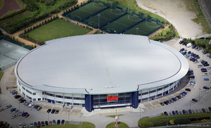 Bolton Arena from the air