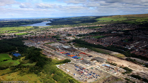 Horwich Works /   Horwich Loco Industrial Estate   from the air