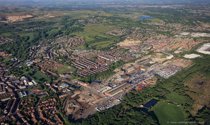 Horwich , Lancashire from the air