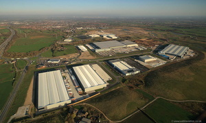 Logistics North Business park Bolton from the air