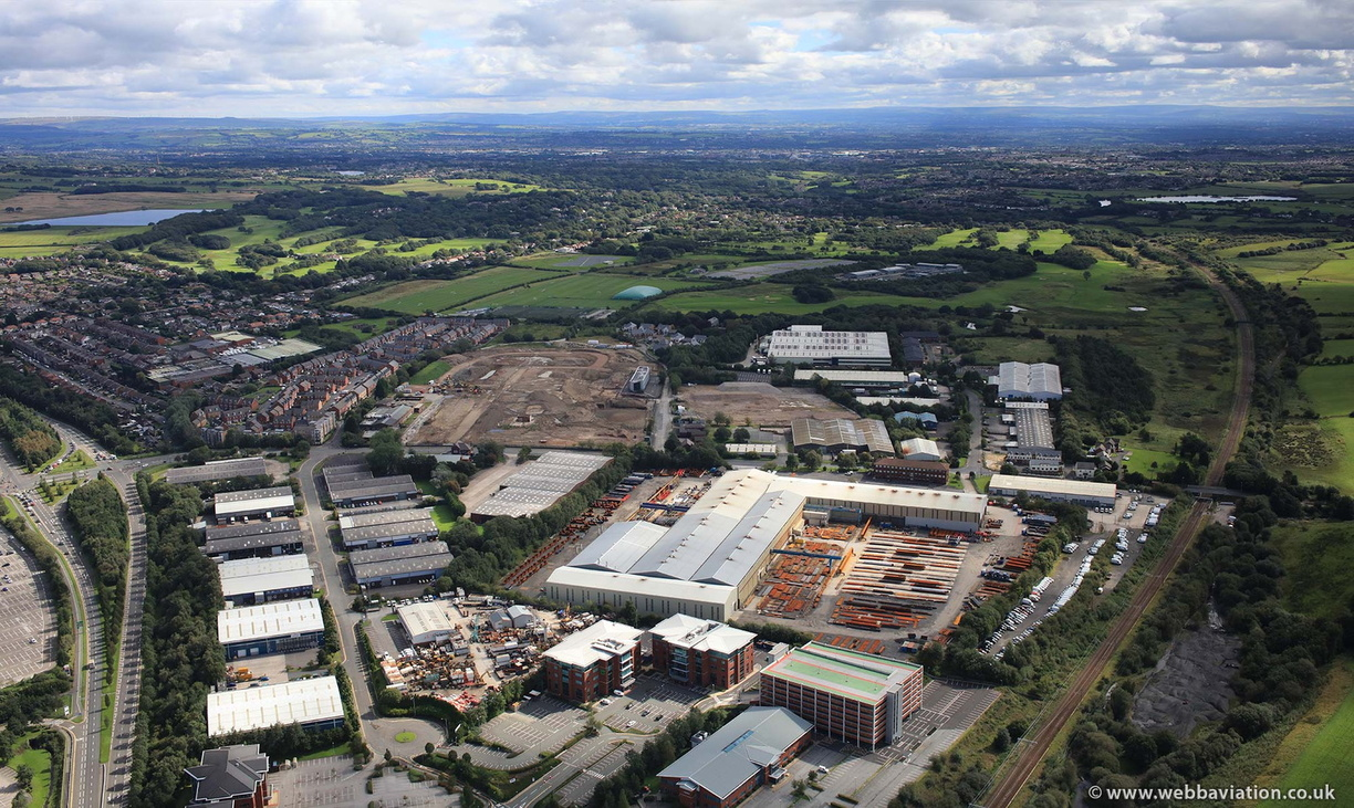 Lostock Industrial Estate, Horwich, Bolton from the air