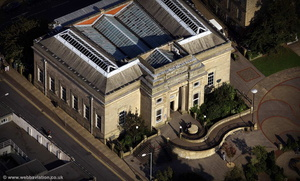 Burnley Central Library aerial photograph