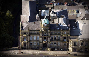 Burnley Town Hall aerial photograph