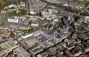 Burnley town centre  aerial photograph