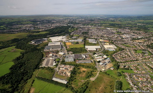Heasandford Industrial Estate, Widow Hill Road, Burnley, BB10 2BQ aerial photograph
