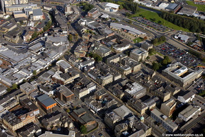 Manchetser Road  & vicinity Burnley town centre aerial photograph