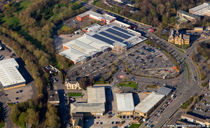 Prestige Retail Park, Active Way, Burnley  aerial photograph