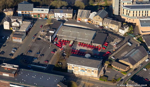 Royal Mail Burnley Delivery / sorting Office Bank Parade, Burnley  aerial photograph