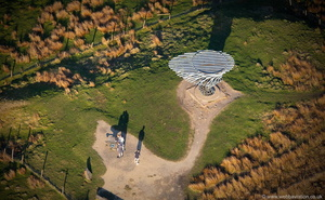 Singing Ringing Tree Panopticon  from the air