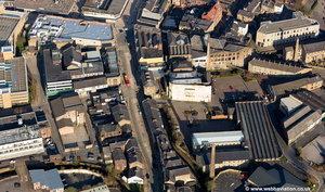 area around St James Syreet  Burnley aerial photograph