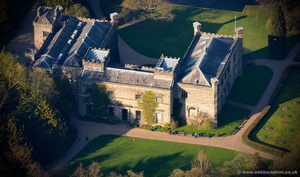 Towneley Hall  Burnley  aerial photograph