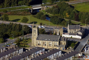 Trinity Towers, Burnley aerial photograph