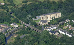 Brooksbottom Mill & Waterside Pub Summerseat  Bury  from the air