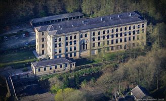 Brooksbottom Mill Summerseat  Bury  from the air